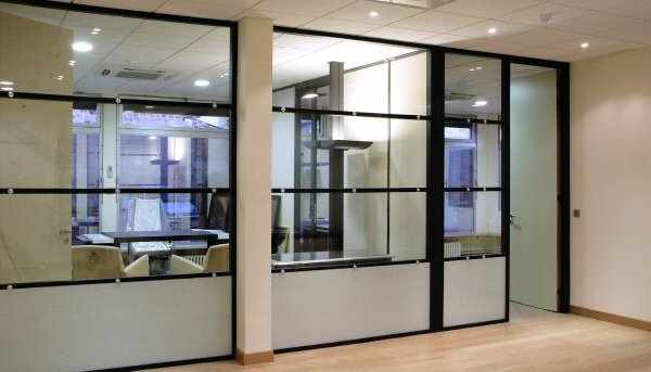 Aluminium Glass Office partition company